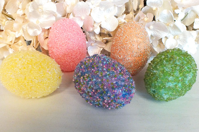 Beaded Easter Eggs