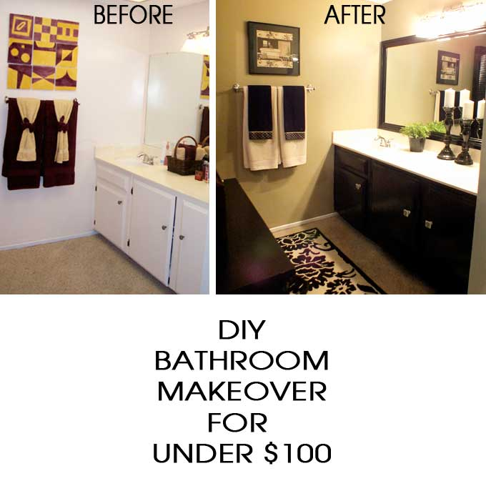 diy bathroom makeover two sisters crafting