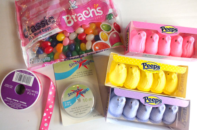 Supplies for Easter Candy Necklaces
