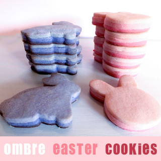 Ombre Easter Cookies