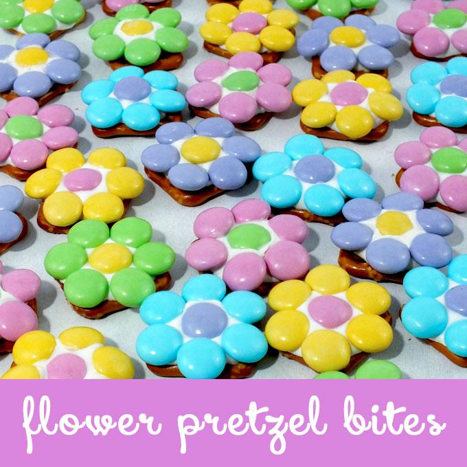 Flower Pretzel Bites Two Sisters Crafting