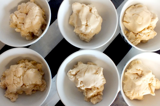 Divide sugar cookie dough