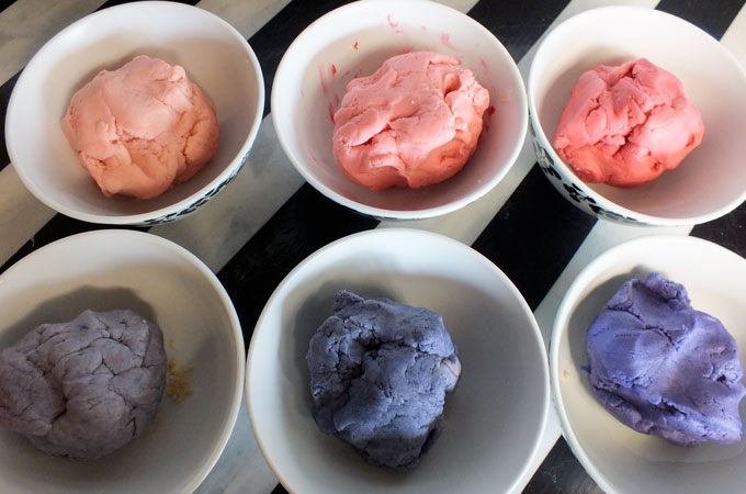 Colored cookie dough