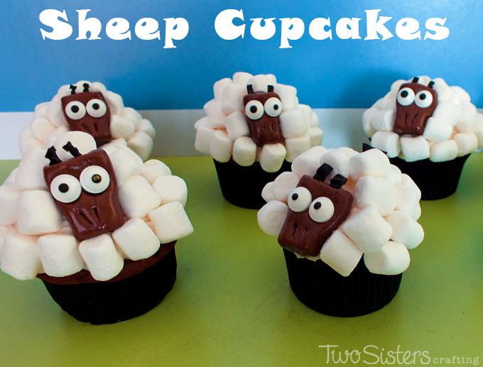 Sheep Cupcakes - Two Sisters Crafting