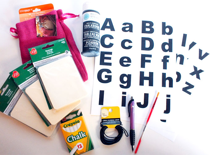 Chalkboard Letter Practice Set Supplies