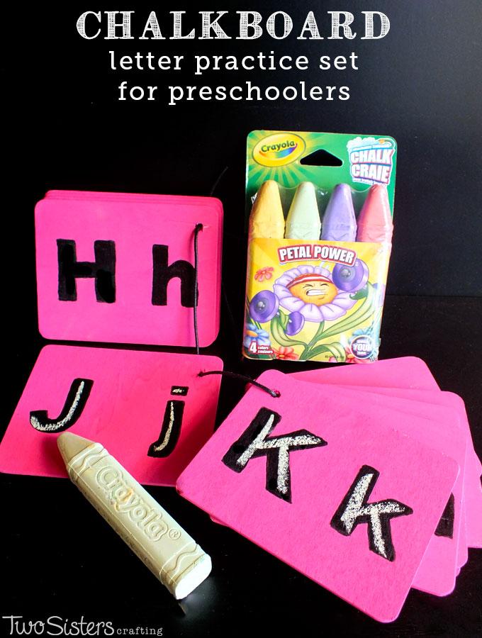 Chalkboard Letter Practice Set