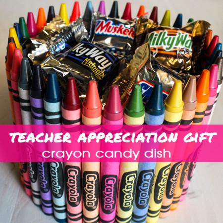 Crayon Candy Dish Teacher Appreciation Gift