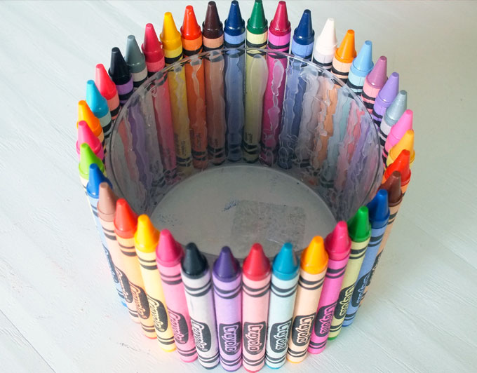 Inside of the Crayon Candy Jar