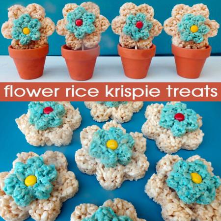 Flower Rice Krispie Treats