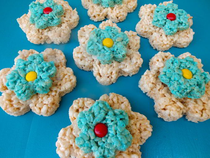 Finished Flower Rice Krispie Treats