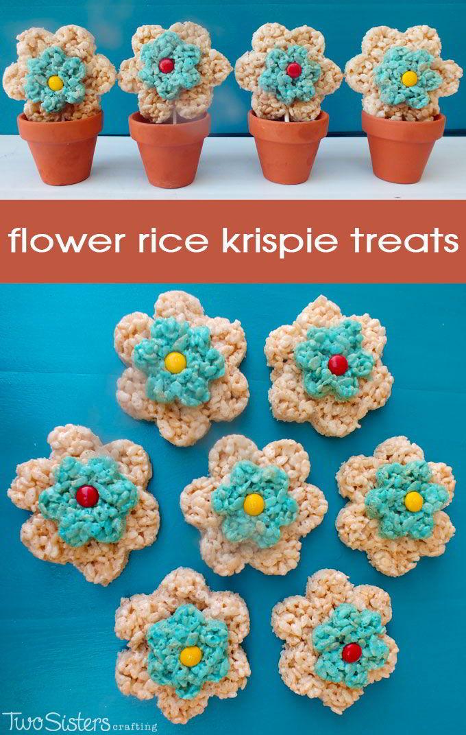 Flower Rice Krispie Treats - Two Sisters