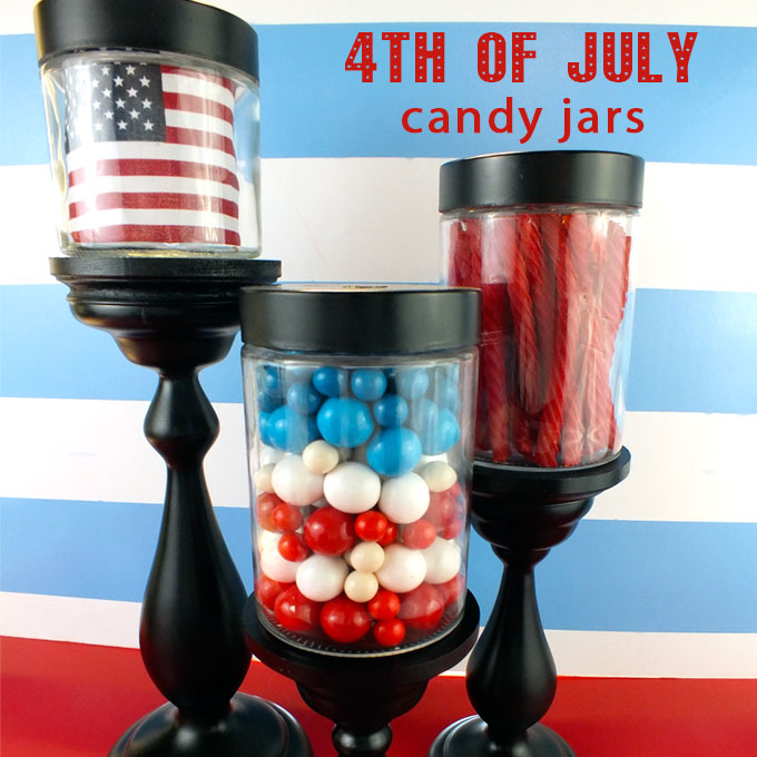 4th Of July Candy Jars Two Sisters
