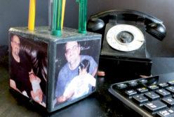 DIY Pencil Holder Photo Block