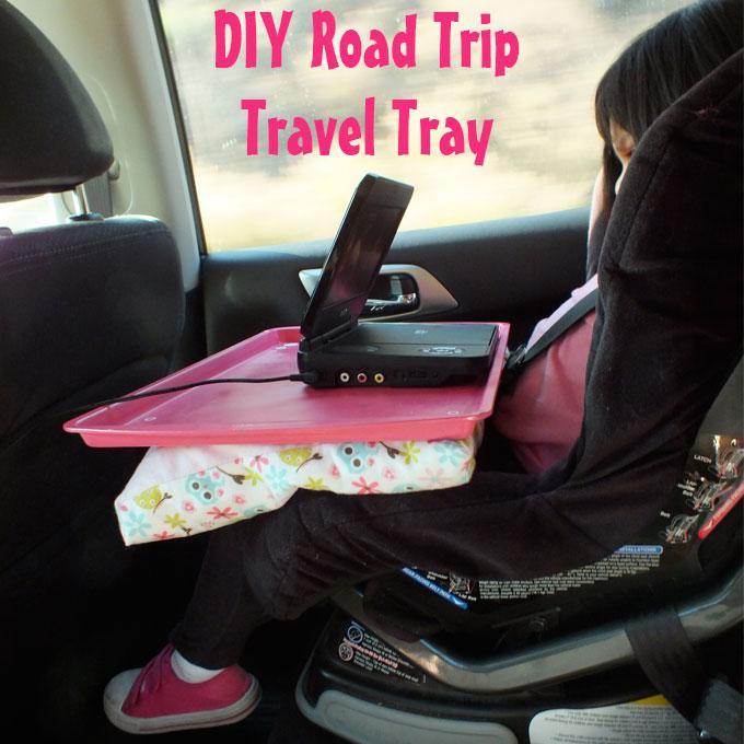 DIY Road Trip Travel Tray