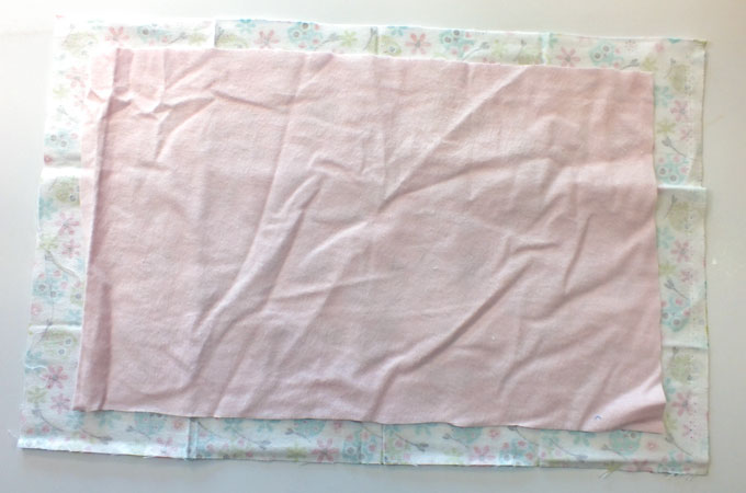 Cut the fabric for the bottom of the Travel Tray Cushion