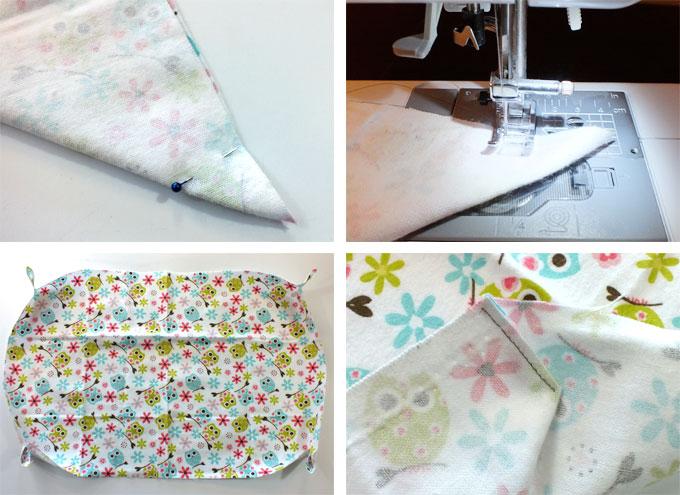 Creating Corners On The Bottom Fabric Piece