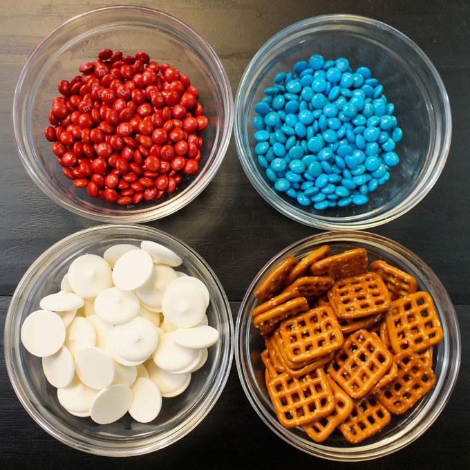 Patriotic Pretzel Bites Ingredients