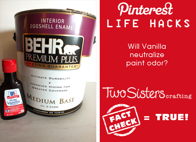 Pinterest Life Hacks Fact Check - Does putting vanilla in the paint get rid of the paint fumes? Does hairspray remove permanent marker? Does Listerine help cracked heels? Does toothpaste fix heat spots on wood? We tried these popular Pinterest Life Hacks so you don't have to!!