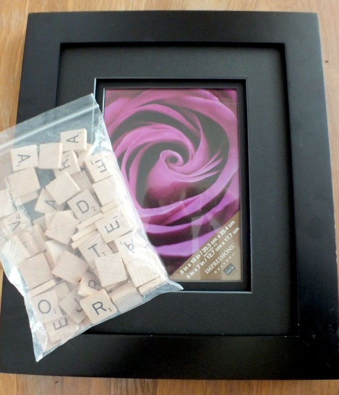 Scrabble Picture Frame Supplies