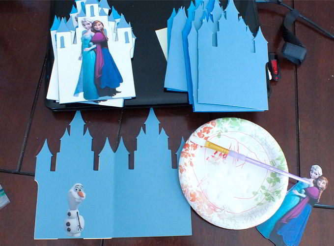 diy frozen invitation