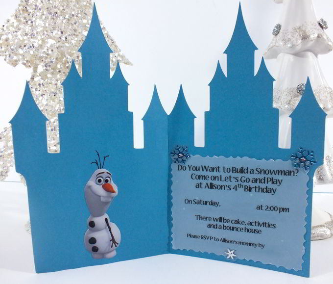 Frozen Birthday Party Invitations - Two Sisters