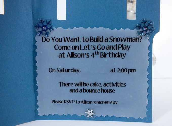 Frozen birthday party invitations two sisters attaching the party information filmwisefo
