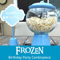 Frozen Birthday Party Centerpieces