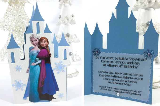 Frozen Birthday Party Invitations Two Sisters Crafting