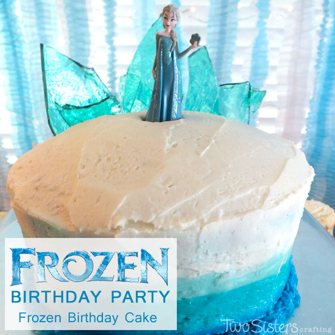 Disney Frozen Birthday Cake With Ombre Frosting