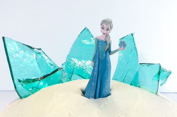 Rock Candy Ice Castle on Top of Disney Frozen Birthday Cake