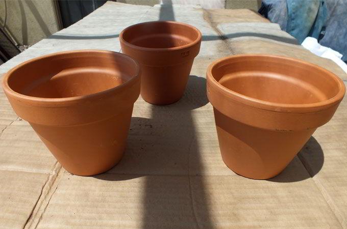 Terra Cotta pots for the Disney Frozen Centerpiece