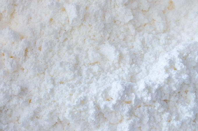 Mix shaving cream and cornstarch
