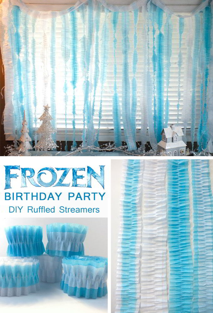 Disney Frozen DIY Ruffled Streamers Two Sisters Crafting