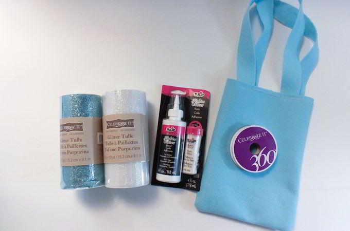 Supplies for Making the Elsa Tutu