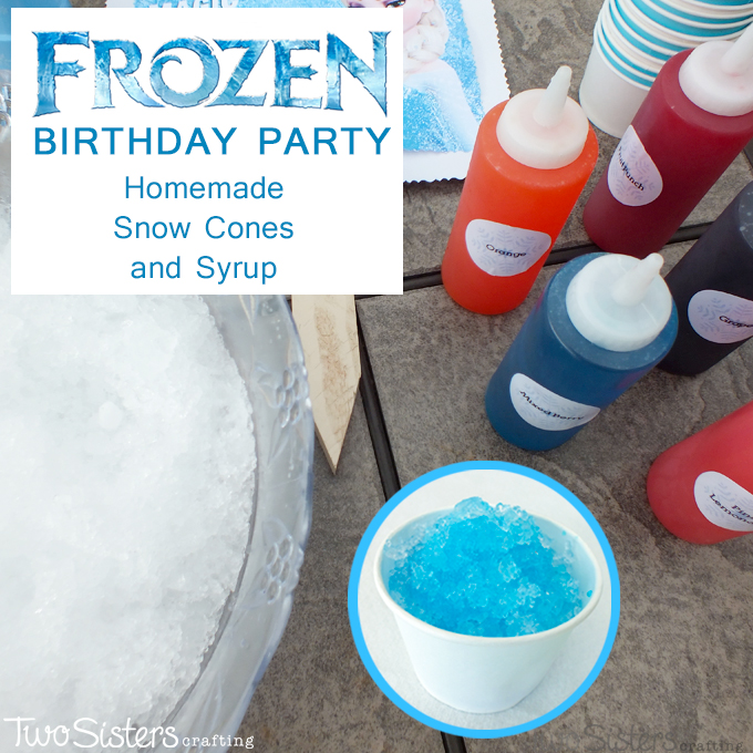 Frozen Homemade Snow Cones And Syrup Two Sisters Crafting
