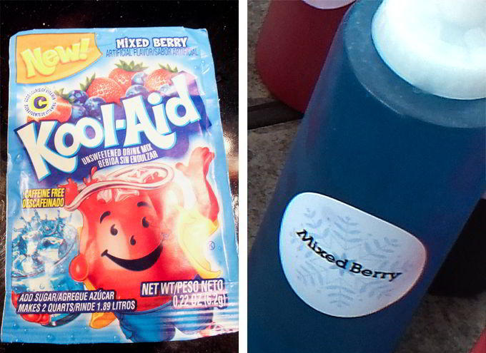 Mixed Berry Kool-Aid for pretty Frozen Blue flavor