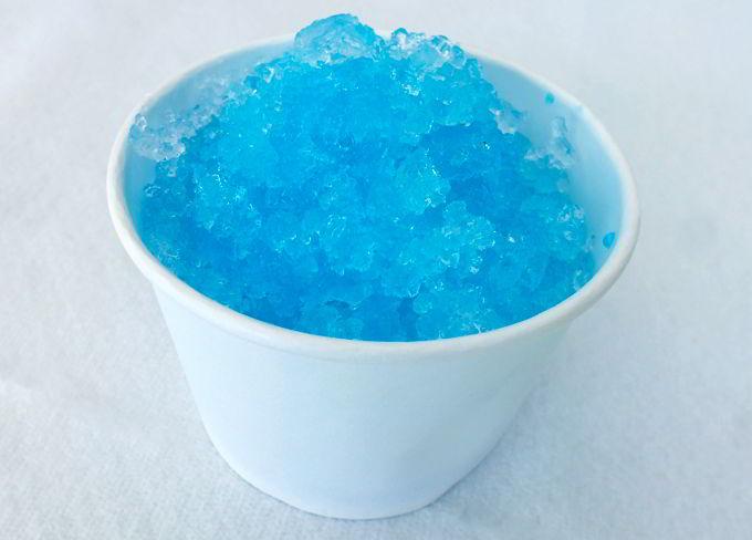 Frozen Homemade Snow Cone