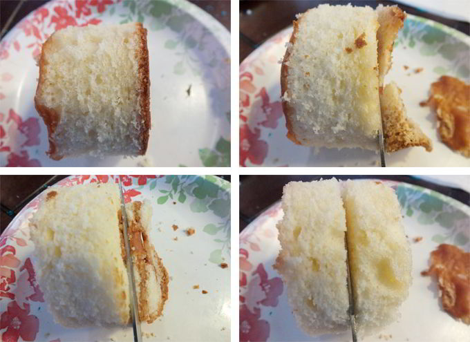 Creating the Mini Cake Layers