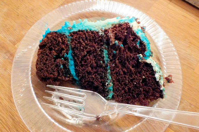 Piece of Frozen Birthday Cake