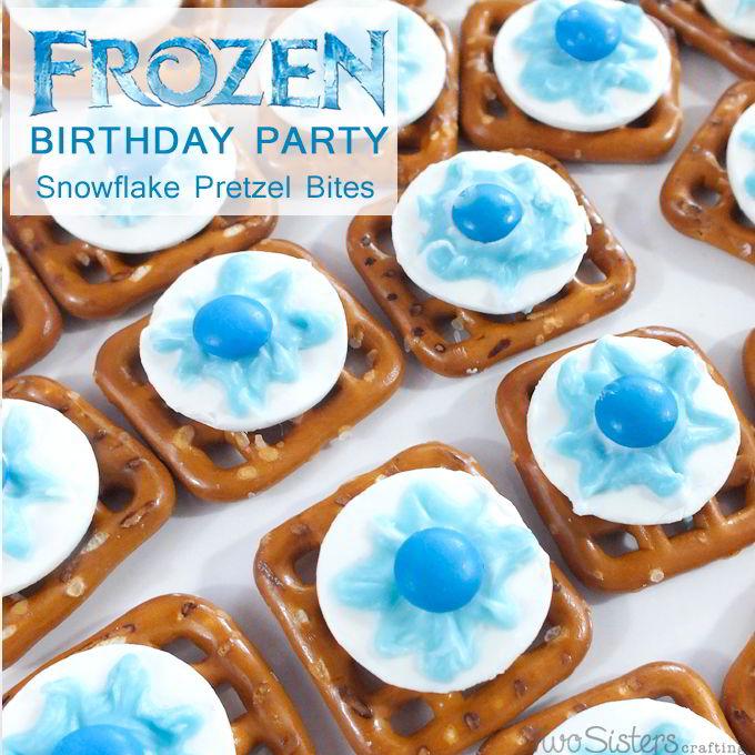 Disney Frozen Snowflake Pretzel Bites Two Sisters Crafting