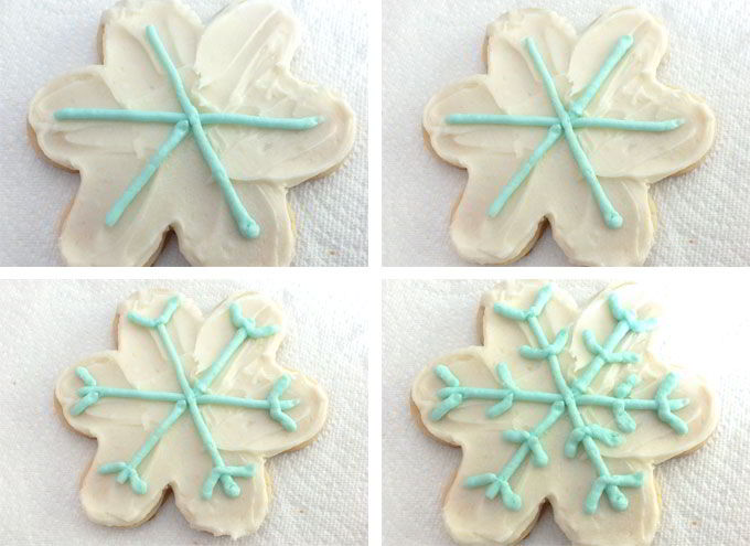 Decorating the Snowflake Cookies - Part 2