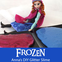 Frozen Anna's DIY Glitter Slime