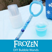 Frozen DIY Bubble Wands