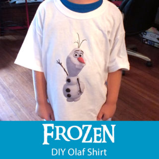 Disney Frozen DIY Olaf Shirt