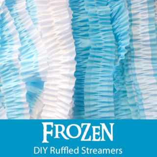Disney Frozen DIY Ruffled Streamers