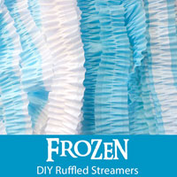 Frozen DIY Ruffled Streamers