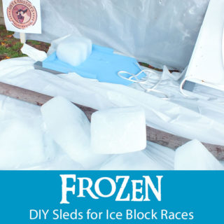 Frozen DIY Sleds for Ice Block Races