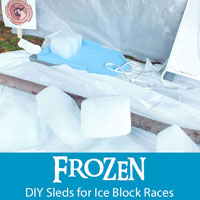 Frozen DIY Sled for Ice Block Races