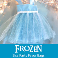 Frozen Elsa Party Favor Bags