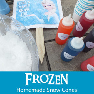 Frozen Homemade Snow Cones